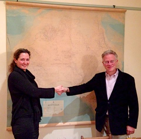 Our Co-Founder Kristen Morrison with Douglas Doman, Vice Director of The Institutes For The Achievement Of Human Potential.